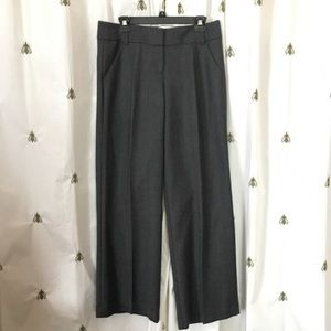 LOFT Grey Black Subtle Stripe Pants, NWT, size 8